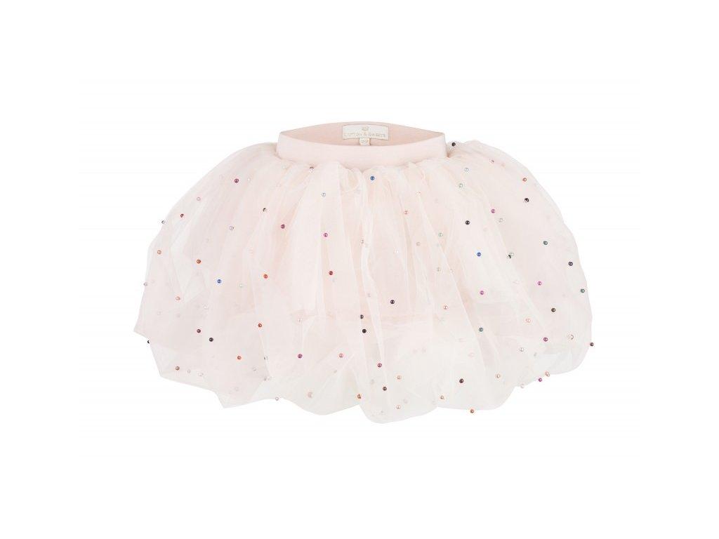 sukne pudrova ruzova