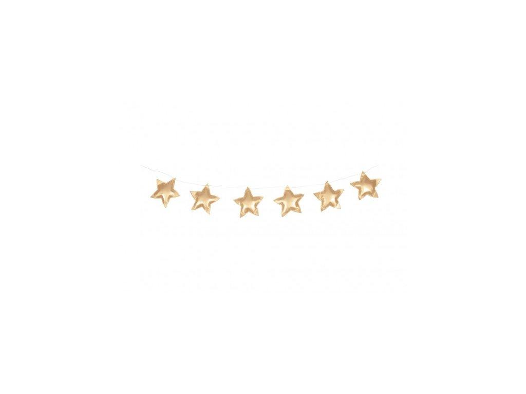 Girlanda hvezdy lesk zlata