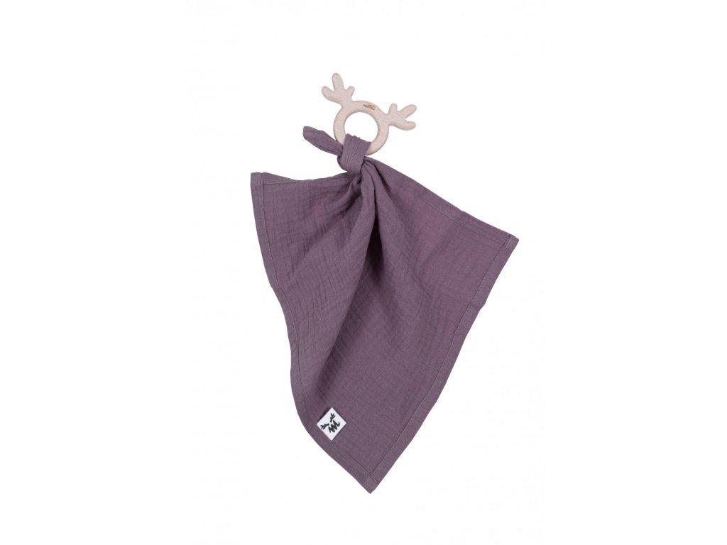 teethermuslin cuddly toy purple