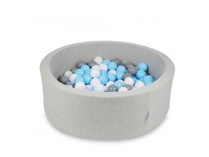 Suchý bazének + 400 ks kuliček kulatý, světle šedý (Rozměr 90x40 cm)