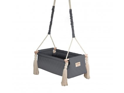 kolyska newborn swing dark gray