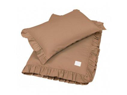 povleceni bavlnene s kanyrem 100x135 cokoladova 01
