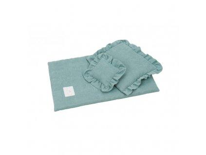 povleceni bavlnene pro panenky modrozelena 01