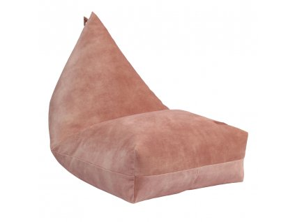 coral velvet beanbag