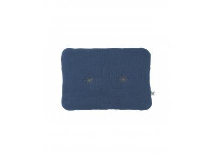 poduszka muslin dark blue