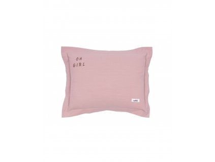 poduszka oh girl washed pink m