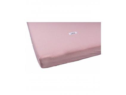 przescieradlo washed cotton pink