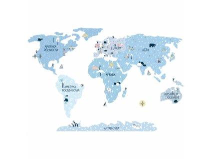 mapa swiata ice cold naklejka. naklejka dla dzieci. dekoracje pokoju