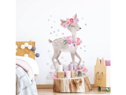 sarenka rozowa naklejka. naklejka dla dzieci. dekoracje pokoju (1)