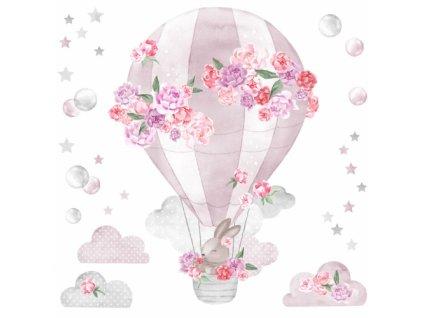 balon rozowy naklejka. naklejka dla dzieci. dekoracje pokoju