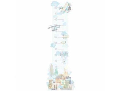 samoloty miarka. naklejka dla dzieci. dekoracje pokoju