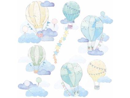 balony mietowe naklejka. naklejka dla dzieci. dekoracje pokoju