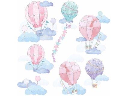 balony rozowe naklejka. naklejka dla dzieci. dekoracje pokoju