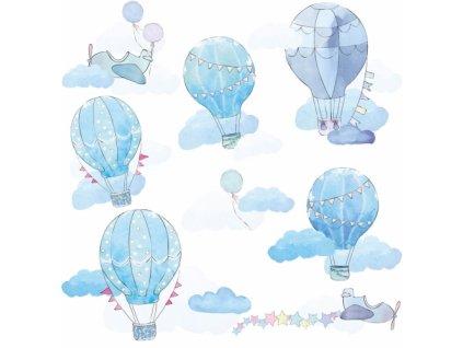 balony blekitne naklejka. naklejka dla dzieci. dekoracje pokoju