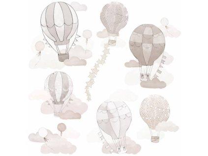 balony bezowe naklejka. naklejka dla dzieci. dekoracje pokoju