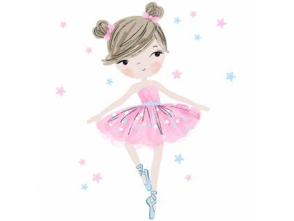 baletnica rozowa naklejka. naklejka dla dzieci. dekoracje pokoju