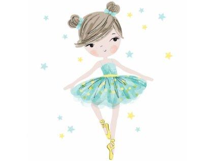 baletnica mietowa naklejka. naklejka dla dzieci. dekoracje pokoju