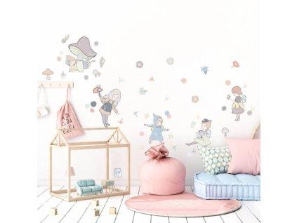 wrozki pastelowe naklejka. naklejka dla dzieci. dekoracje pokoju (1)