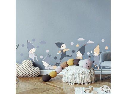 skrzaty naklejka. naklejka dla dzieci. dekoracje pokoju (1)