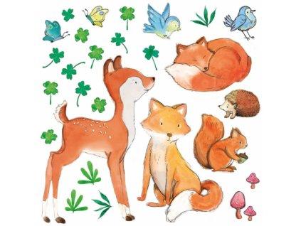 lesni przyjaciele naklejka. naklejka dla dzieci. dekoracje pokoju