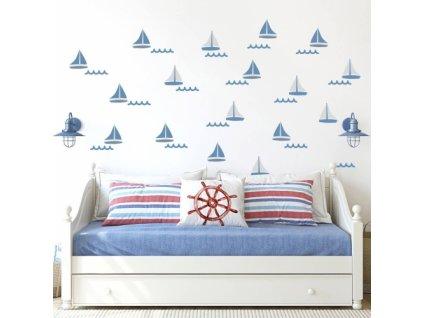 zaglowki niebieskie naklejka. naklejka dla dzieci. dekoracje pokoju (3)