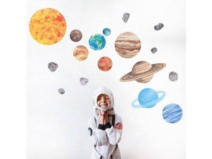 kosmos naklejka. naklejka dla dzieci. dekoracje pokoju (1)