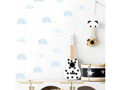 mini tecze niebieskie naklejka. naklejka dla dzieci. dekoracje pokoju (2)
