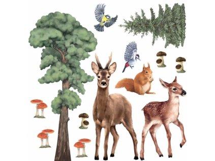 lesne zwierzeta 2 naklejka. naklejka dla dzieci. dekoracje pokoju