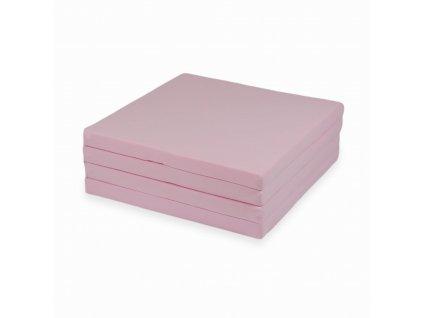 mimii mata do zabawy kwadratowa skladana 120x120cm pudrowy roz mk006 1