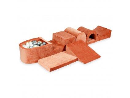 tp259 mimii piankowy plac zabaw najwiekszy tor z basenem micro velvet soft canyon clay jasne zloto rozowe zloto srebrne perla 100 pilek