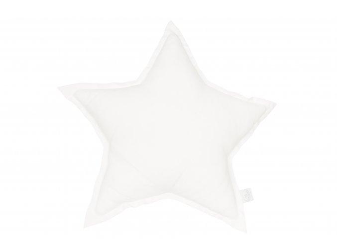 Polštář lněný Hvězda bílá