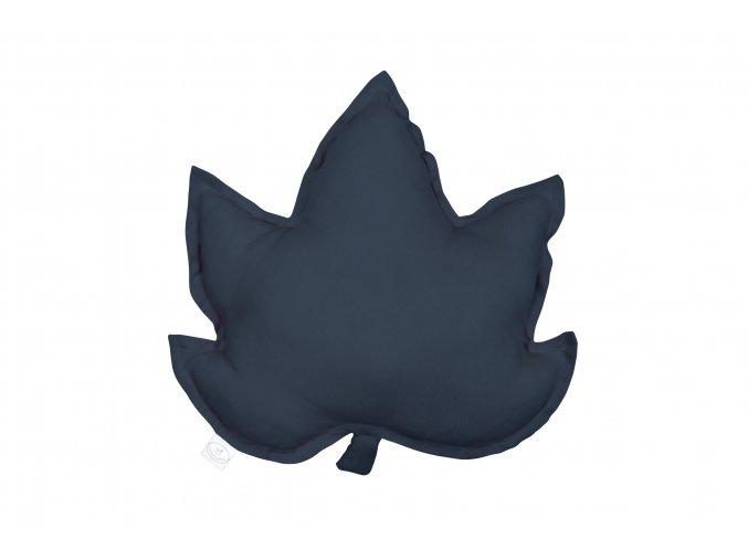 Polštář lněný List javoru grafit
