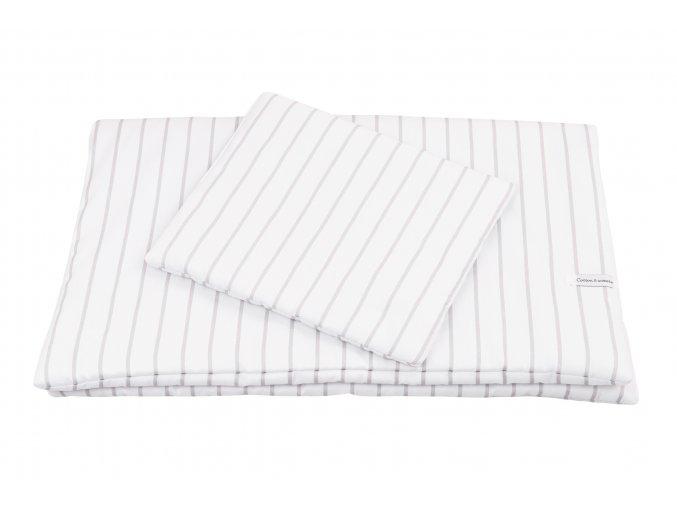 Dětské povlečení Stripes New Born s výplní šedé