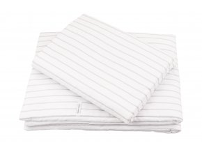 Dětské povlečení Stripes s výplní šedé