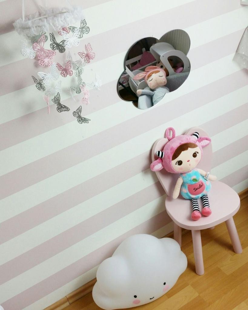 BabyDeco - Zrcadlo na zeď mráček