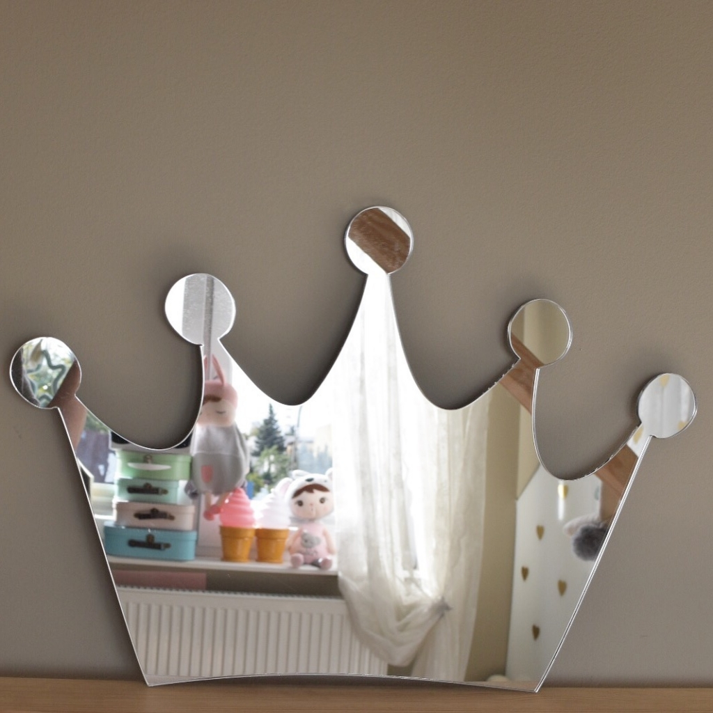 BabyDeco - Zrcadlo na zeď koruna
