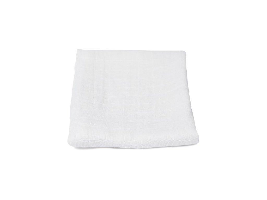 Mušelínová plenka - bílá