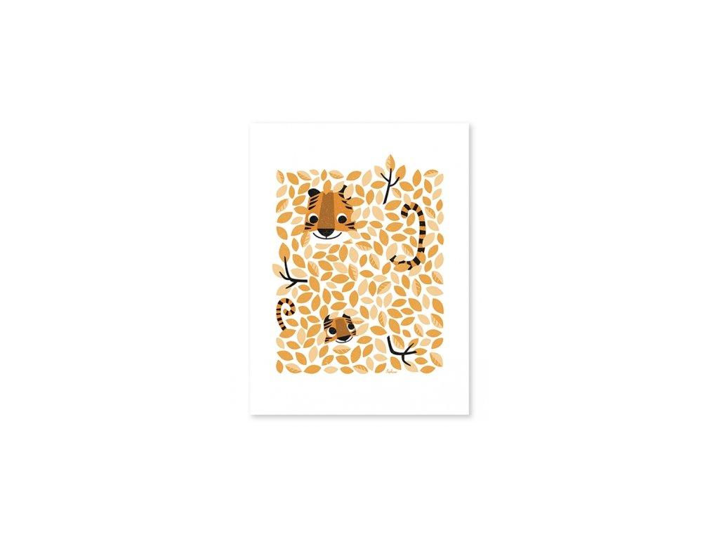 affiche tigre enfant p0277 kopie