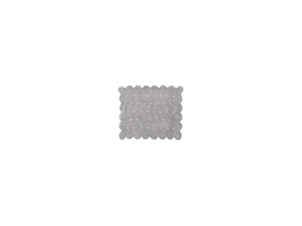 Aratextil Koberec Cookie šedo růžový 120 x 160 cm