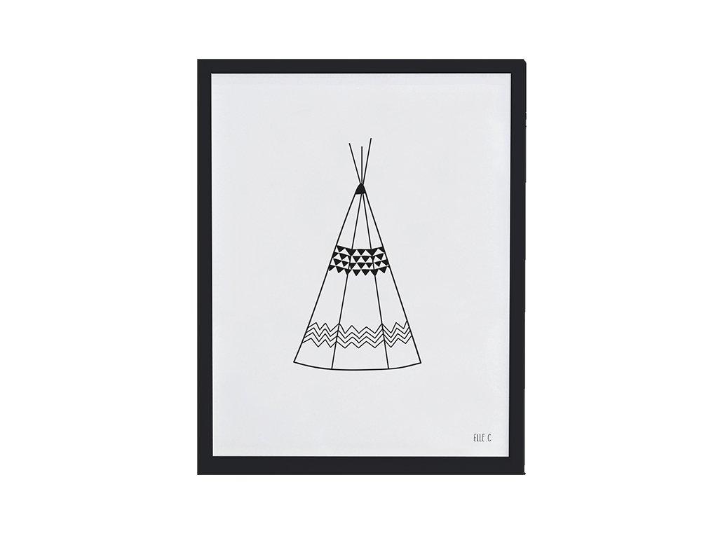 Lilipinso Plakát Teepee 30 x 40 cm
