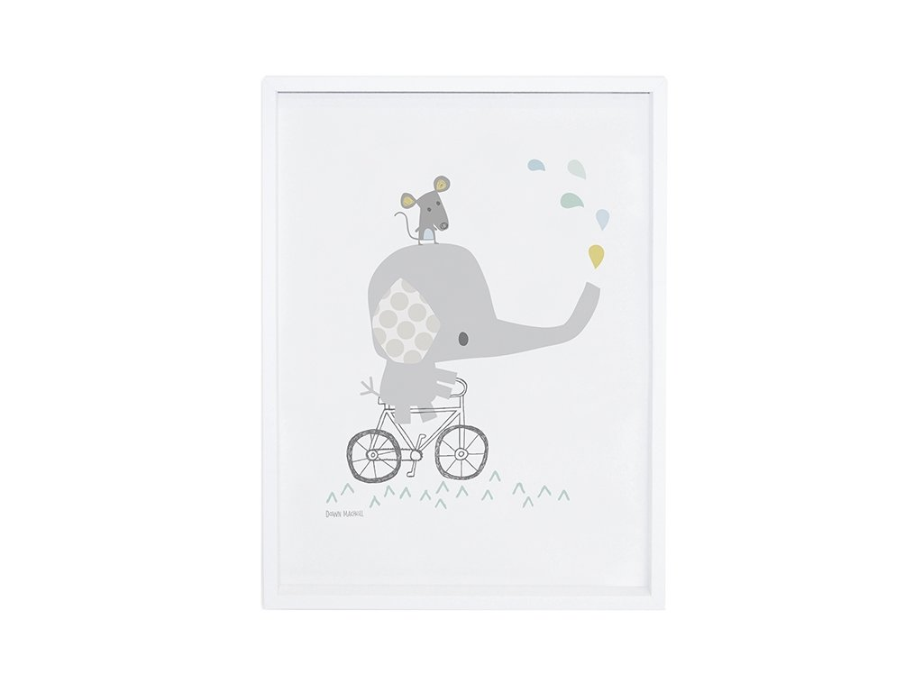 Lilipinso Plakát  Elephant on his bike 30 x 40 cm