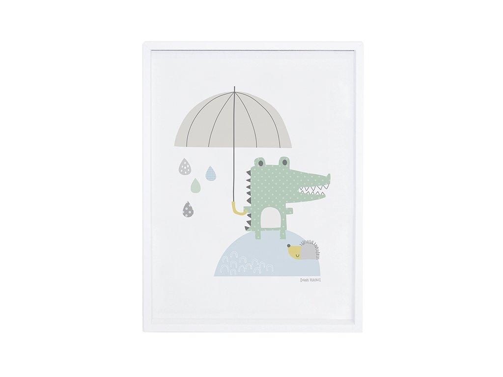 Lilipinso Plakát Crocodile and umbrella 30 x 40 cm