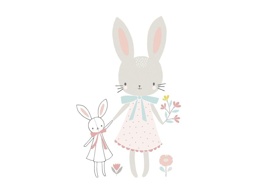 Lilipinso Samolepka na zeď Rabbits XL 58 x 90 cm