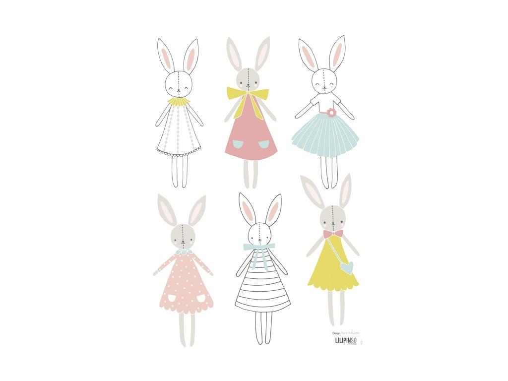 Lilipinso Samolepka Rabbit Girl dolls