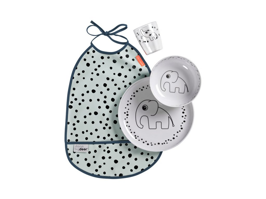 1457 jidelni set happy dots modry