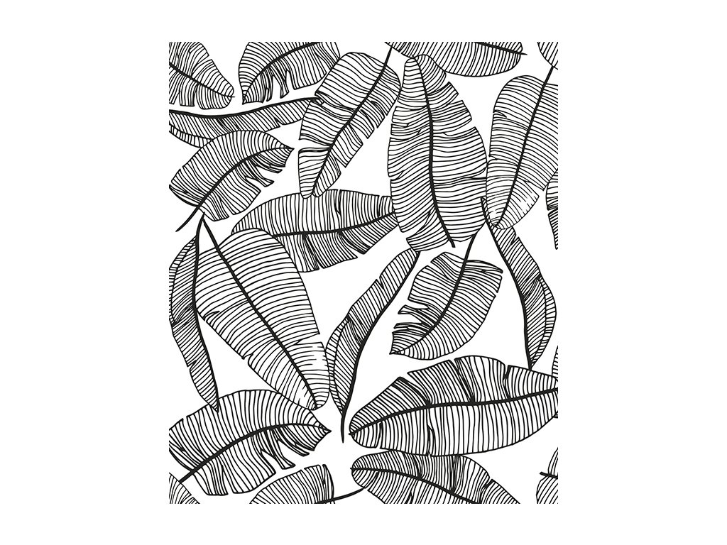 h0462 papier peint deco jungle feuille palmier