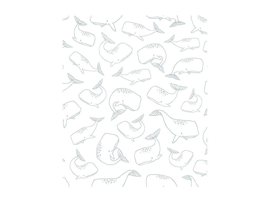 h0445 pp papier peint deco baleines 50x50
