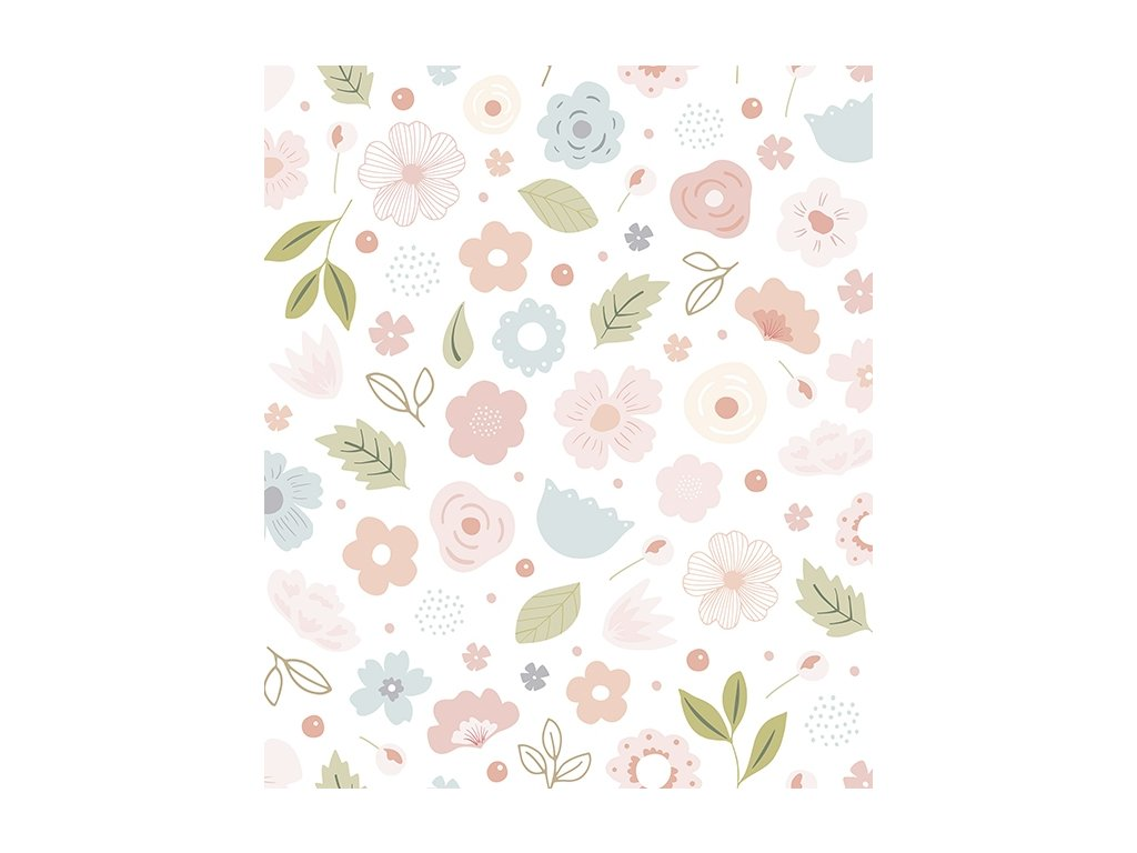 h0452 papier peint deco fleurs romantique rose 50x50