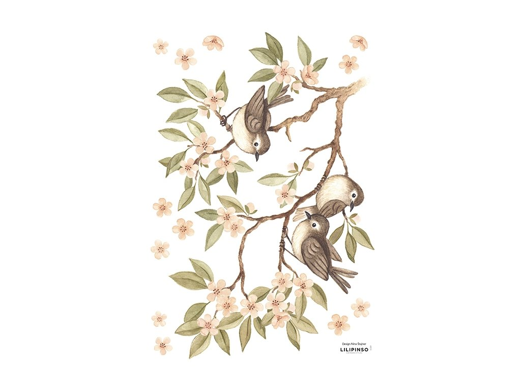 stickers branche oiseaux lilipinso s1329 a3