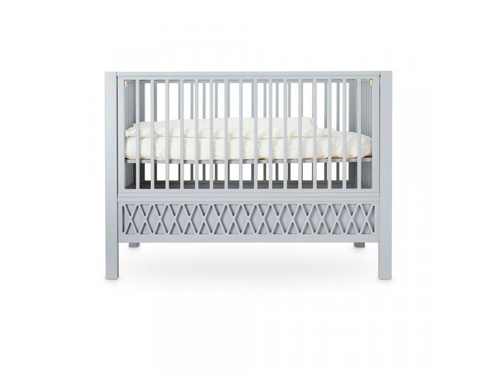 Cam Cam Dětská postýlka Harlequin 120 x 60 cm šedá